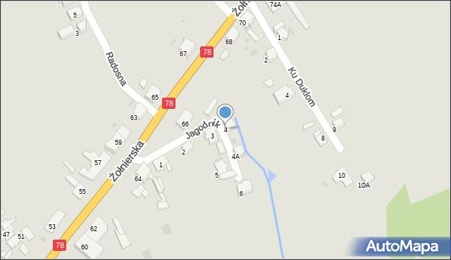 Bytom, Jagodnik, 4, mapa Bytomia