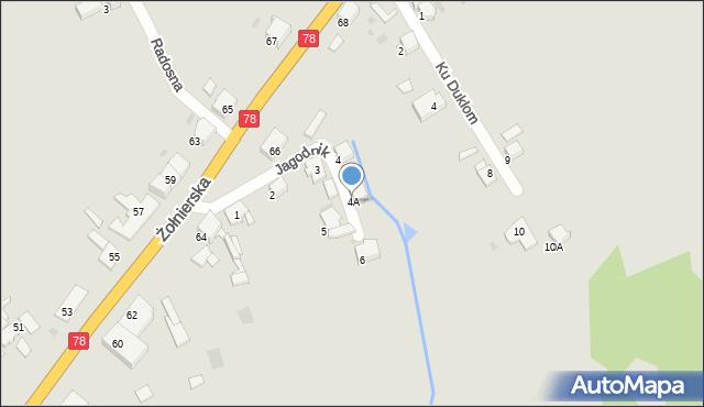 Bytom, Jagodnik, 4A, mapa Bytomia