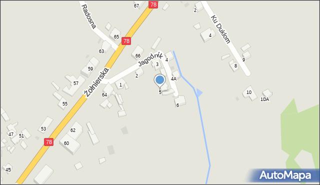 Bytom, Jagodnik, 5, mapa Bytomia