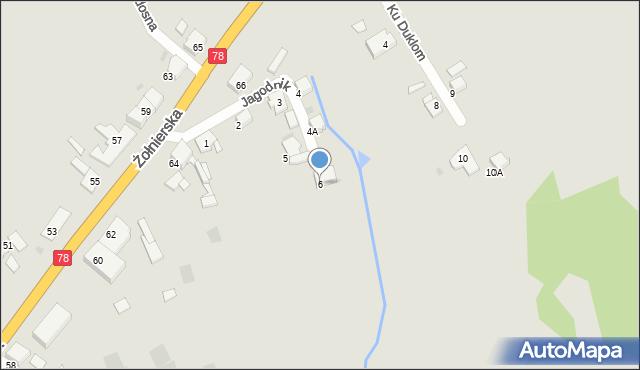 Bytom, Jagodnik, 6, mapa Bytomia