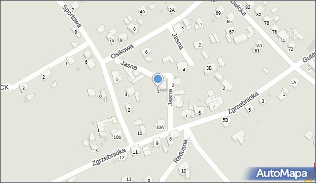 Bytom, Jasna, 1, mapa Bytomia