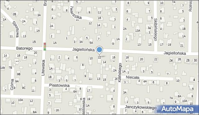 Chełm, Jagiellońska, 12, mapa Chełma