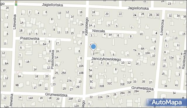 Chełm, Janczykowskiego Kazimierza, 1, mapa Chełma