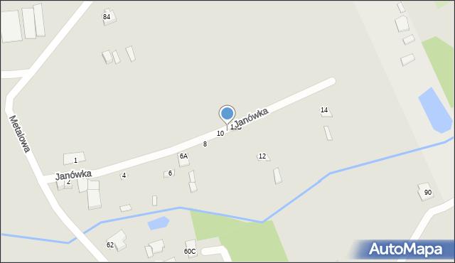 Chełm, Janówka, 10A, mapa Chełma