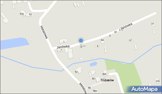 Chełm, Janówka, 4, mapa Chełma