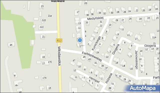 Chełm, Jaraczewskiej Elżbiety, 1, mapa Chełma