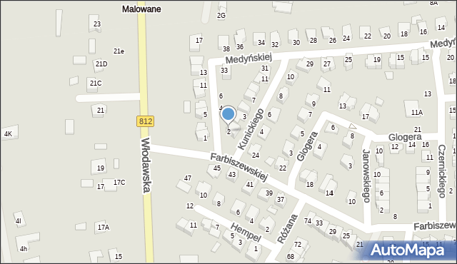 Chełm, Jaraczewskiej Elżbiety, 2, mapa Chełma
