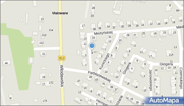 Chełm, Jaraczewskiej Elżbiety, 4, mapa Chełma