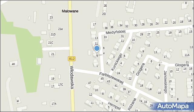 Chełm, Jaraczewskiej Elżbiety, 5, mapa Chełma