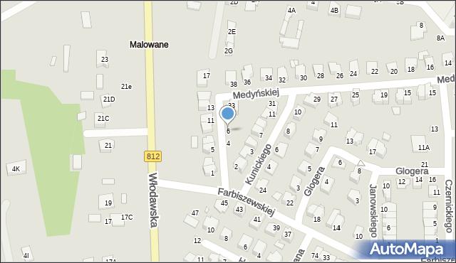 Chełm, Jaraczewskiej Elżbiety, 6, mapa Chełma