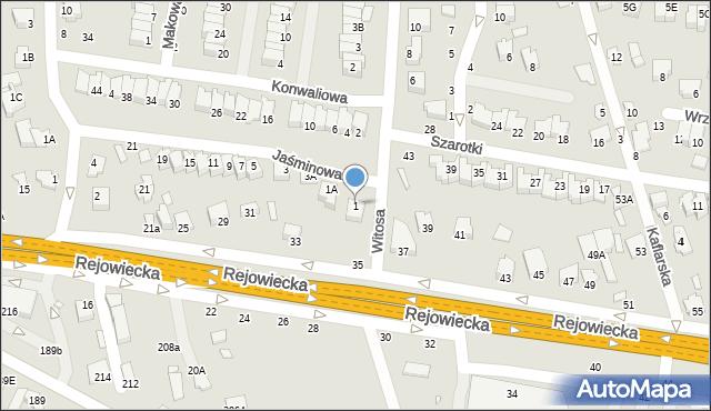 Chełm, Jaśminowa, 1, mapa Chełma