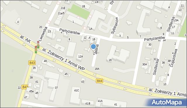 Chełm, Jasna, 4, mapa Chełma