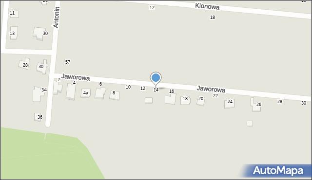Chełm, Jaworowa, 14, mapa Chełma