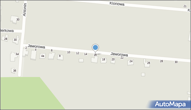 Chełm, Jaworowa, 16, mapa Chełma