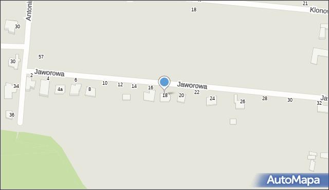 Chełm, Jaworowa, 18, mapa Chełma