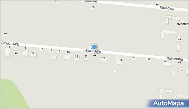 Chełm, Jaworowa, 22, mapa Chełma