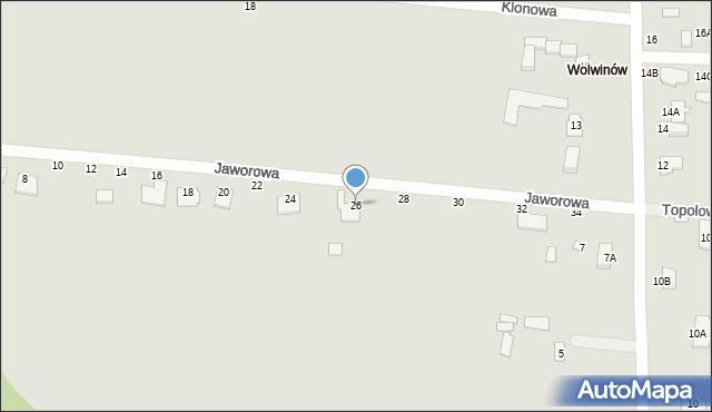 Chełm, Jaworowa, 26, mapa Chełma
