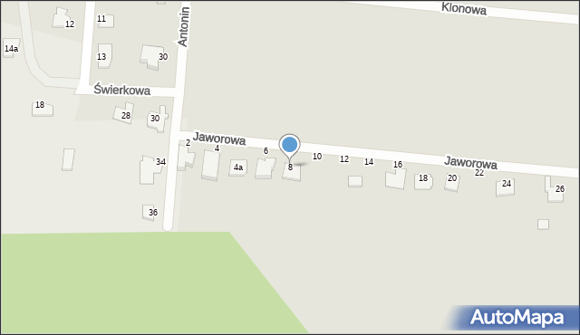 Chełm, Jaworowa, 8, mapa Chełma