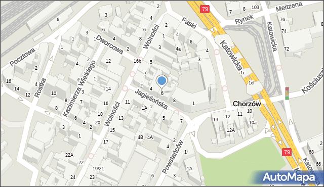 Chorzów, Jagiellońska, 6, mapa Chorzów