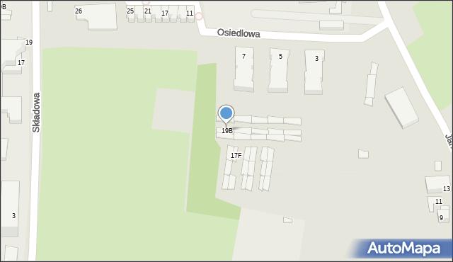Chorzów, Janasa Wincentego, 19B, mapa Chorzów