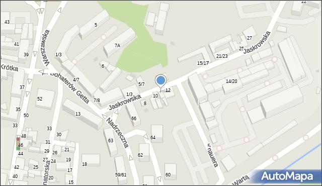 Częstochowa, Jaskrowska, 10A, mapa Częstochowy