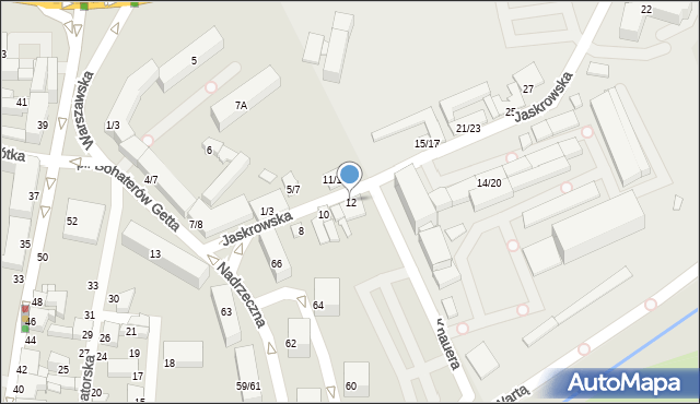 Częstochowa, Jaskrowska, 12, mapa Częstochowy