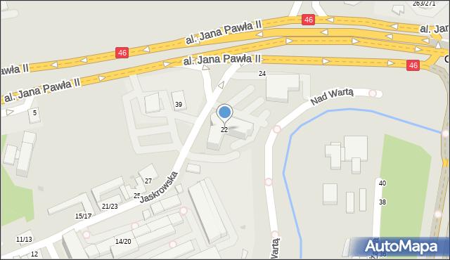 Częstochowa, Jaskrowska, 22, mapa Częstochowy