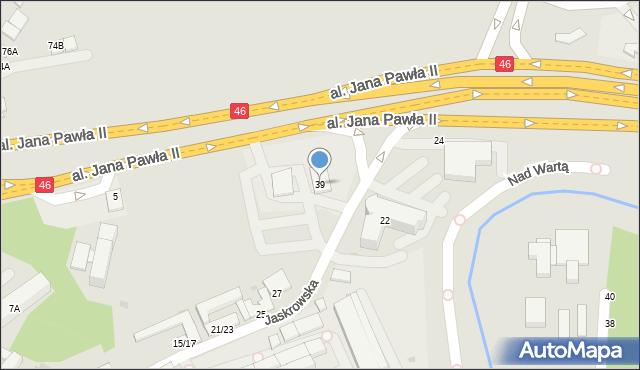 Częstochowa, Jaskrowska, 39, mapa Częstochowy