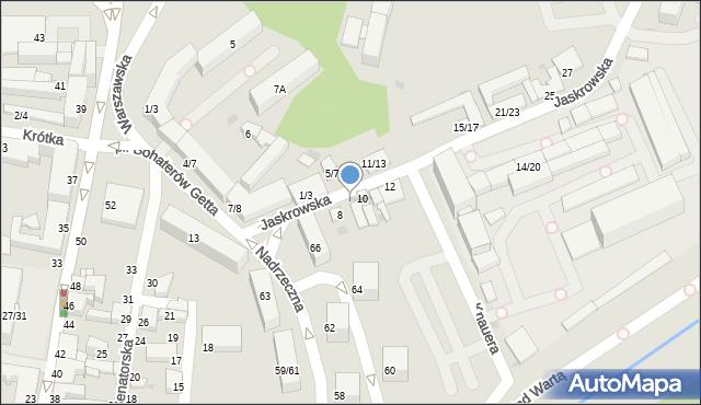 Częstochowa, Jaskrowska, 8A, mapa Częstochowy
