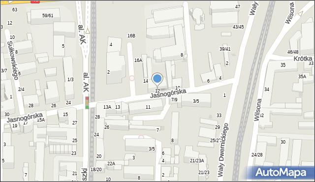 Częstochowa, Jasnogórska, 12, mapa Częstochowy