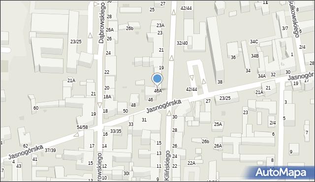 Częstochowa, Jasnogórska, 46A, mapa Częstochowy