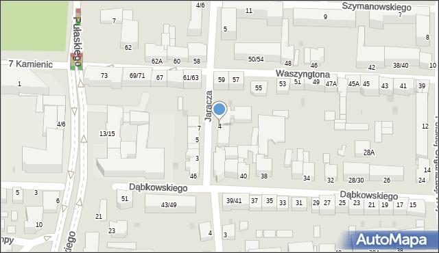 Częstochowa, Jaracza, 4, mapa Częstochowy