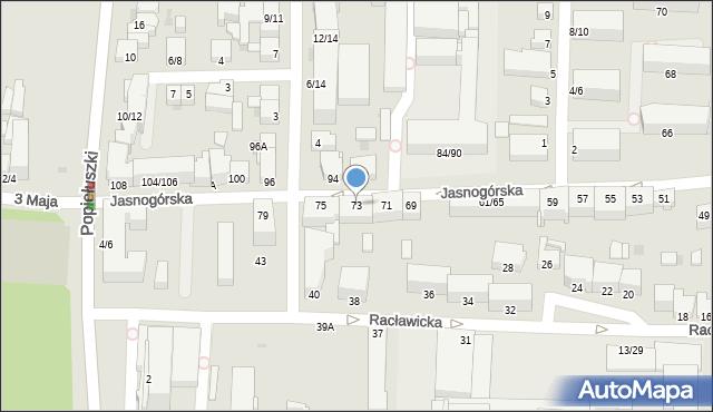 Częstochowa, Jasnogórska, 73, mapa Częstochowy