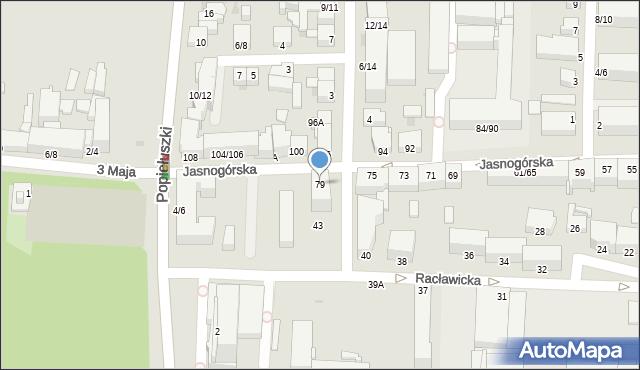 Częstochowa, Jasnogórska, 79, mapa Częstochowy