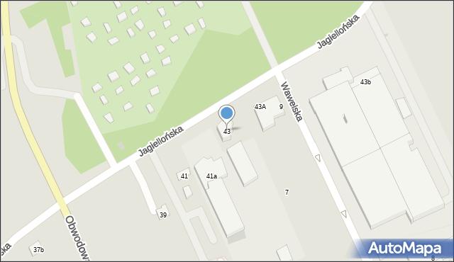 Dobczyce, Jagiellońska, 43, mapa Dobczyce