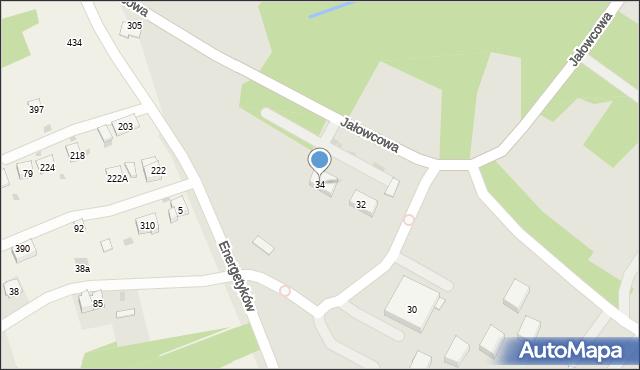 Dobczyce, Jałowcowa, 34, mapa Dobczyce
