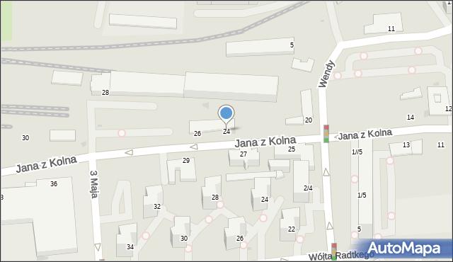 Gdynia, Jana z Kolna, 24/26, mapa Gdyni