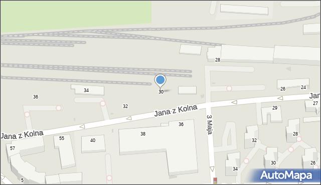 Gdynia, Jana z Kolna, 30, mapa Gdyni