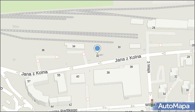 Gdynia, Jana z Kolna, 32, mapa Gdyni