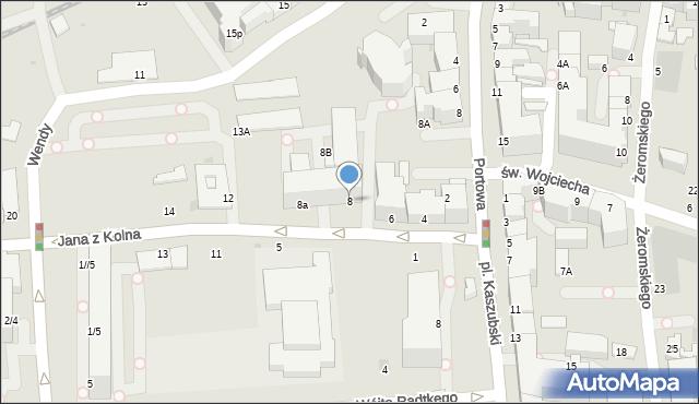 Gdynia, Jana z Kolna, 8, mapa Gdyni