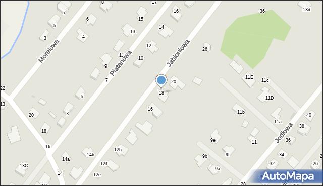 Grudziądz, Jabłoniowa, 18, mapa Grudziądza