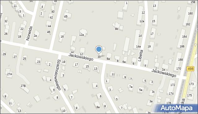 Grudziądz, Jackowskiego, 10, mapa Grudziądza