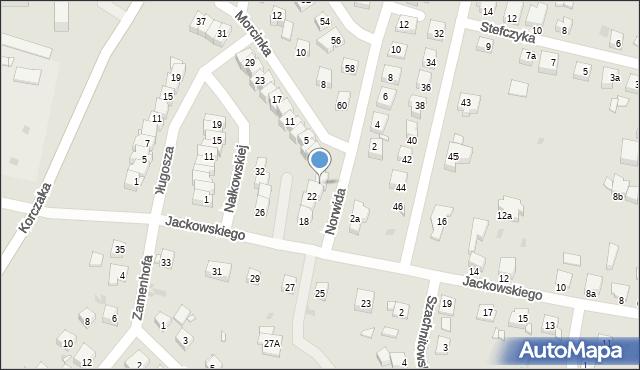 Grudziądz, Jackowskiego, 24, mapa Grudziądza
