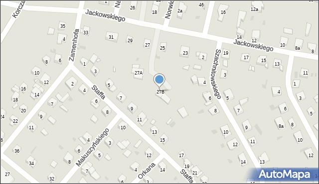 Grudziądz, Jackowskiego, 27B, mapa Grudziądza