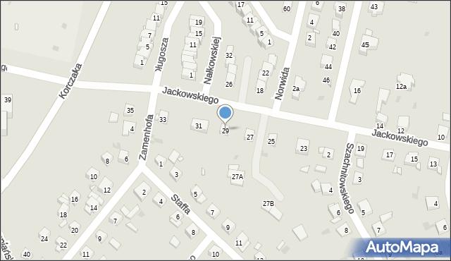 Grudziądz, Jackowskiego, 29, mapa Grudziądza