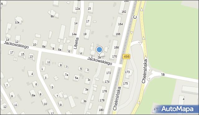 Grudziądz, Jackowskiego, 2a, mapa Grudziądza