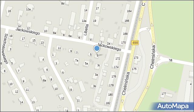 Grudziądz, Jackowskiego, 3, mapa Grudziądza