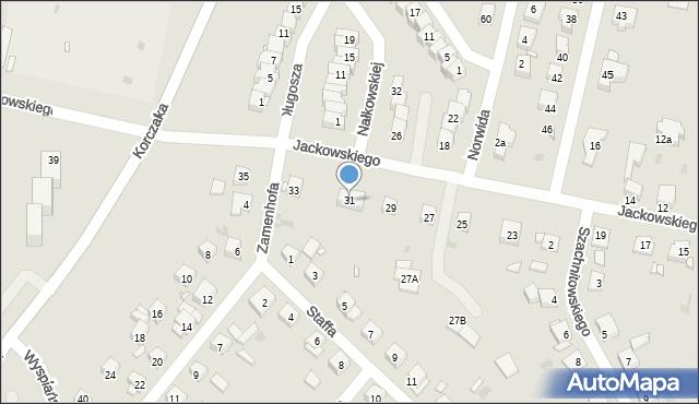 Grudziądz, Jackowskiego, 31, mapa Grudziądza