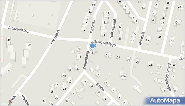 Grudziądz, Jackowskiego, 33, mapa Grudziądza