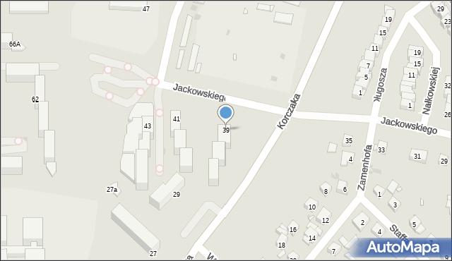 Grudziądz, Jackowskiego, 39, mapa Grudziądza